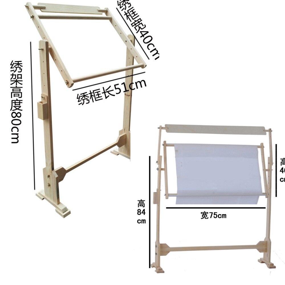 3 taille en bois cadre de broderie point de croix cadre couture broderie Stand réglable cadre en bois