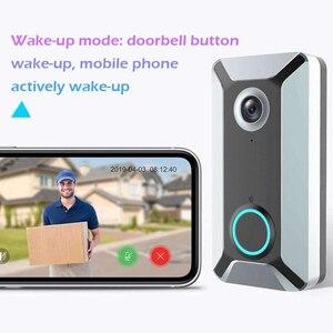 Image 5 - V6 HD 720P vidéo porte cloches sans fil WiFi intelligent sonnette étanche IP porte carillon interphone visuel pour caméra de sécurité à domicile