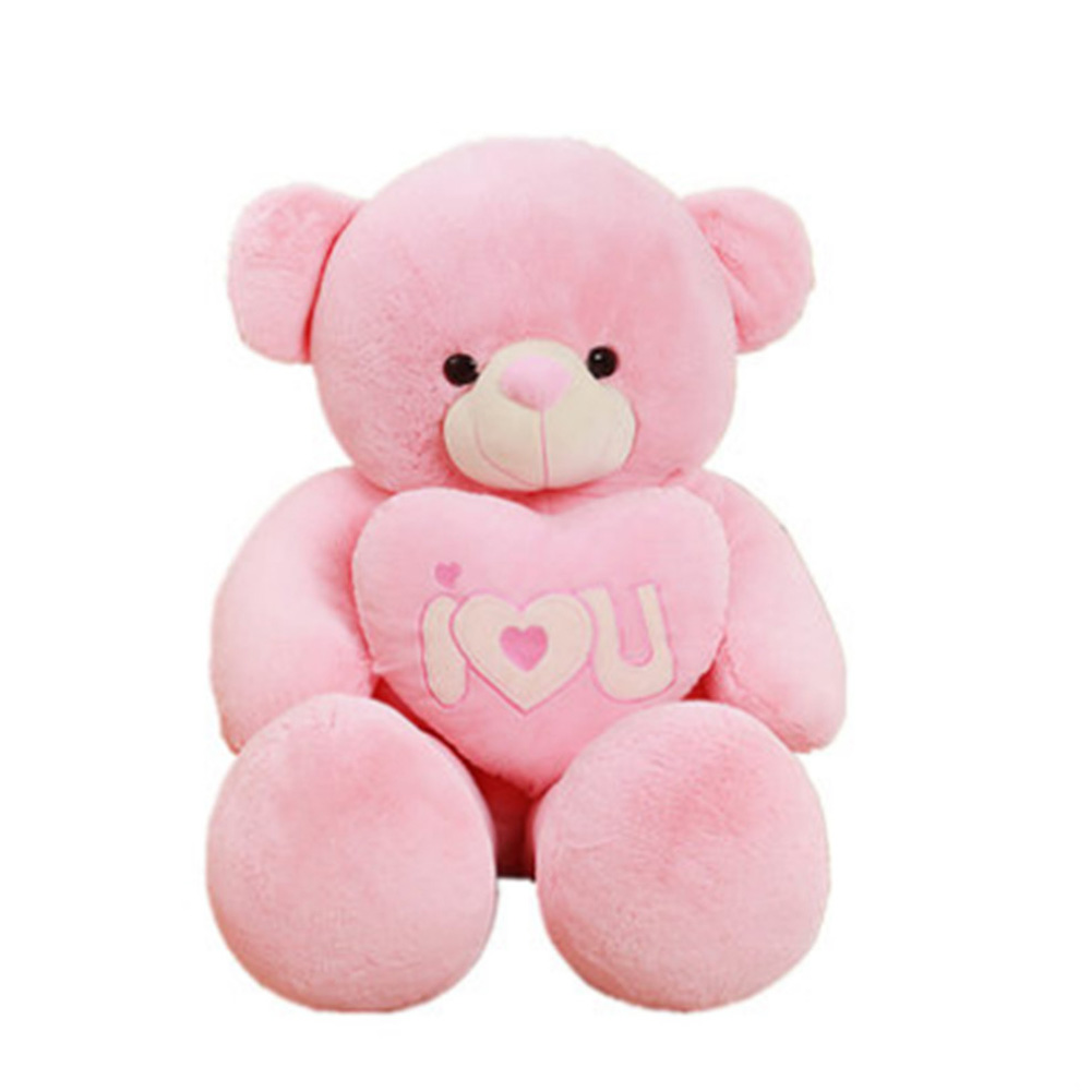 Fancytrader Teddy Bear Plush Toys Big Stuffed Soft Bears Doll Gray Pink Purple Blue 130cm 51inch fancytrader biggest in the world pluch bear toys real jumbo 134 340cm huge giant plush stuffed bear 2 sizes ft90451