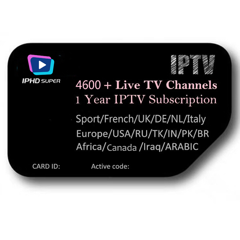 BUYRUO IPTV Subscription arabic europe french italian stream live tv code  iptv 4700 channels 3700 VOD and 5000 films