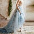 2016 de Largo Barrido Tren Tul Faldas Faldas Para Bridals Vintage Mujeres Del Banquete de Boda Barato Por Encargo faldas saia