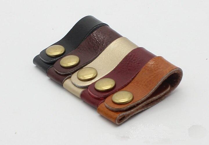 8pcs lot Genuine Leather Earphone font b Cable b font font b winder b font wrapped