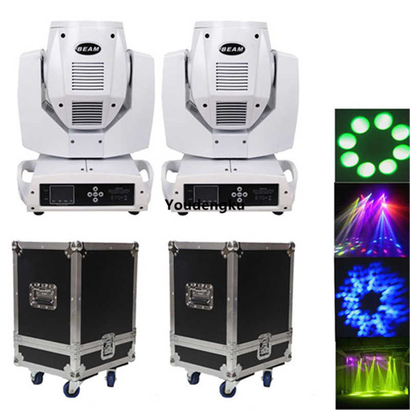 4 pieces + 2 flight cases beam spot pr lighting china moving heads sharpy 230 beam 7r white