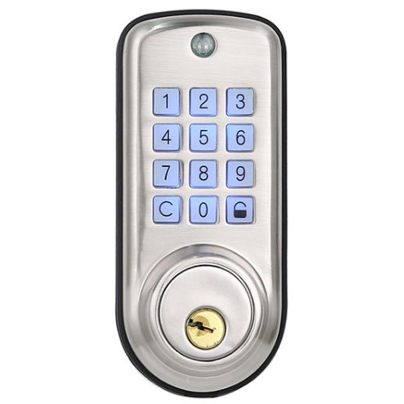 Дешевый умный дом цифровой дверной замок, водонепроницаемый Интеллектуальный БЕСКЛЮЧЕВОЙ пароль Pin код дверной замок электронный засов за