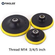 FINGLEE 80/100/125 mm M14 2pcs Plastic Backer Angle Grinder Disc Joint Connector Diamond Polishing Pads Car Wax