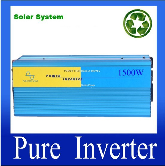 1500W Pure Sine Wave Power Inverter,DC/AC Inverter For Solar PV System,DC12/24/24V to AC100/220/120/220/230/240VACCE Approval mc7915ct to 220