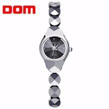 DOM women luxury brand waterproof style quartz watch tungsten steel nurse watch gold bracelet women Watch new and high qualit