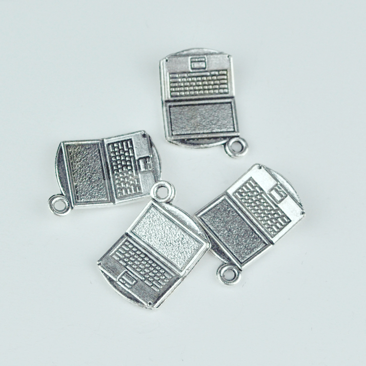 50pcs Fashion Computer Metal Charms 14x20mm Antique Silver