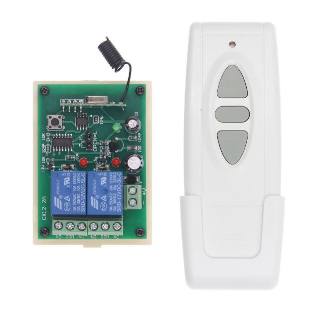 DC 12V 24V Motor Remote Control Switch Motor Forwards Reverse Up Down Switch 2CH Receiver Transmitter Manual Button Limit Switch digital dc motor pwm speed control switch governor 12 24v 5a high efficiency