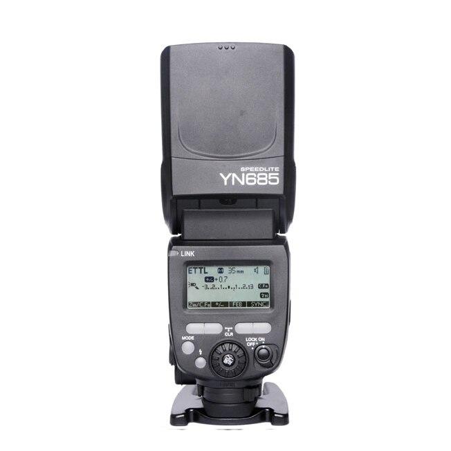 YONGNUO YN685 YN-685 (YN-568EX II Upgraded Version) Wireless HSS TTL Speedlite Flash Build in Receiver Worked with YN-560 IV yongnuo yn 560 iv yn560 wireless ttl hss master radio flash speedlite 2pcs rf 605c rf605 lcd wireless trigger for canon camera