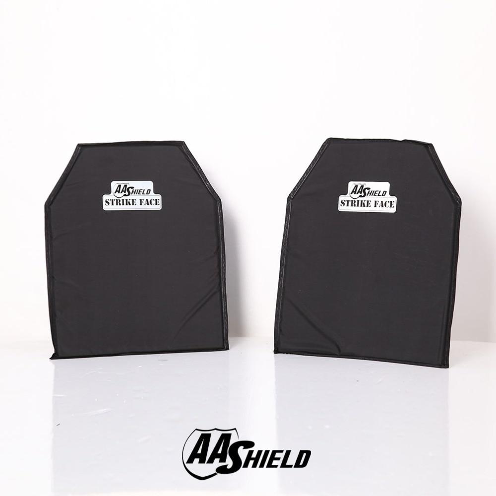AA Shield Bullet Proof Soft Armor Body Armor Plate Aramid Core Self Defense Supply NIJ Lvl IIIA & HG2 11X14#2 Shooting Cut Pair