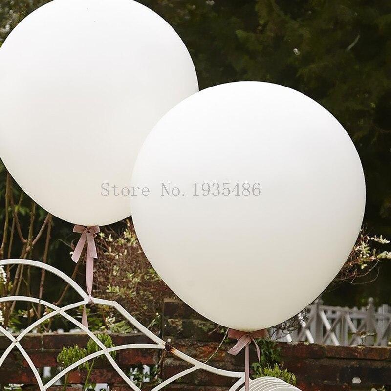 5 x 36 palčni standardni 3-nožni velikan Belo roza Helium Baloni Poroka Birthday Party Latex balon velik božični okras dogodka