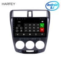 Harfey Car Stereo for 2006 2007 2008 2013 Honda CITY Android 8.1 Radio with GPS Bluetooth USB WIFI OBD2 Steering Wheel Control