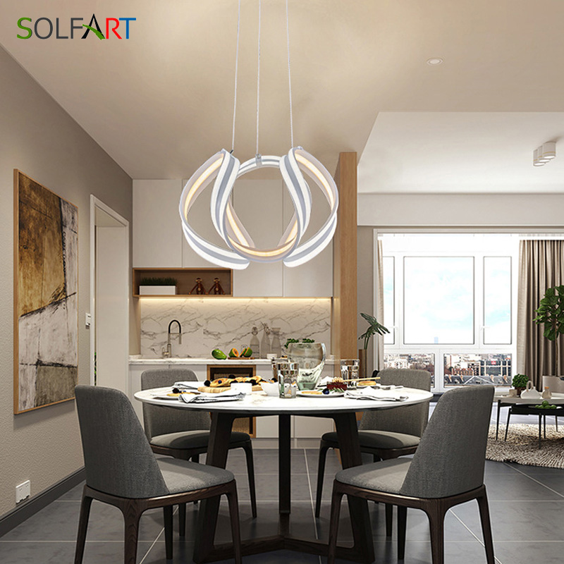 Us 156 21 20 Off Modern Led Pendant Lighting For Kitchen Abajur Dining Table Lamp Bar Lights In From