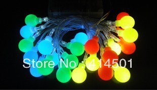 New Year four-color balloon LED battery Christmas holiday lights flashing  wedding bar shop decoration lamp String light 20