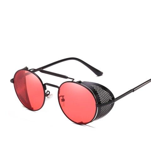 Steampunk Goggles Retro Sunglasses Men Punk Round Sunglasses Women Brand Designer Sun Glasses for Male UV400 Oculos De Sol Islamabad