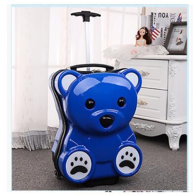 Bear Shaped Kid's Rolling Luggage
