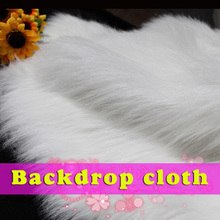 """White Shaggy Faux Fur Fabric (long Pile fur)  Photography props  Backdrops  36""""x60"""" Sold By The Yard  Free Shipping"""