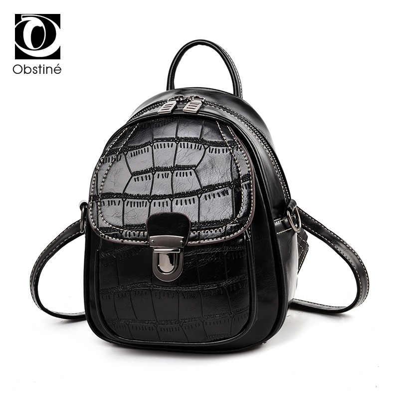 1649d777a88 pu leather bag backpack female black women's backpacks for girls mini back  pack fashion small backpack women cute shoulder bags