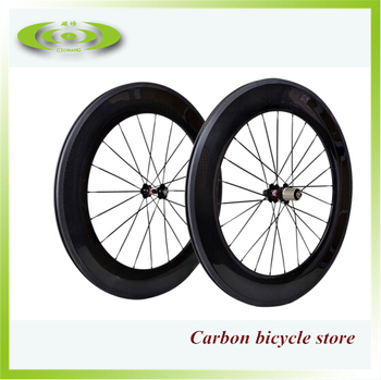 Pass EN quality test! 700C cheap road bike wheels with 3k glossy or matte finish