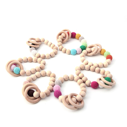 New 1pc teething natural round wood bracelet baby newborn mom kids wooden teether toy.jpg 250x250