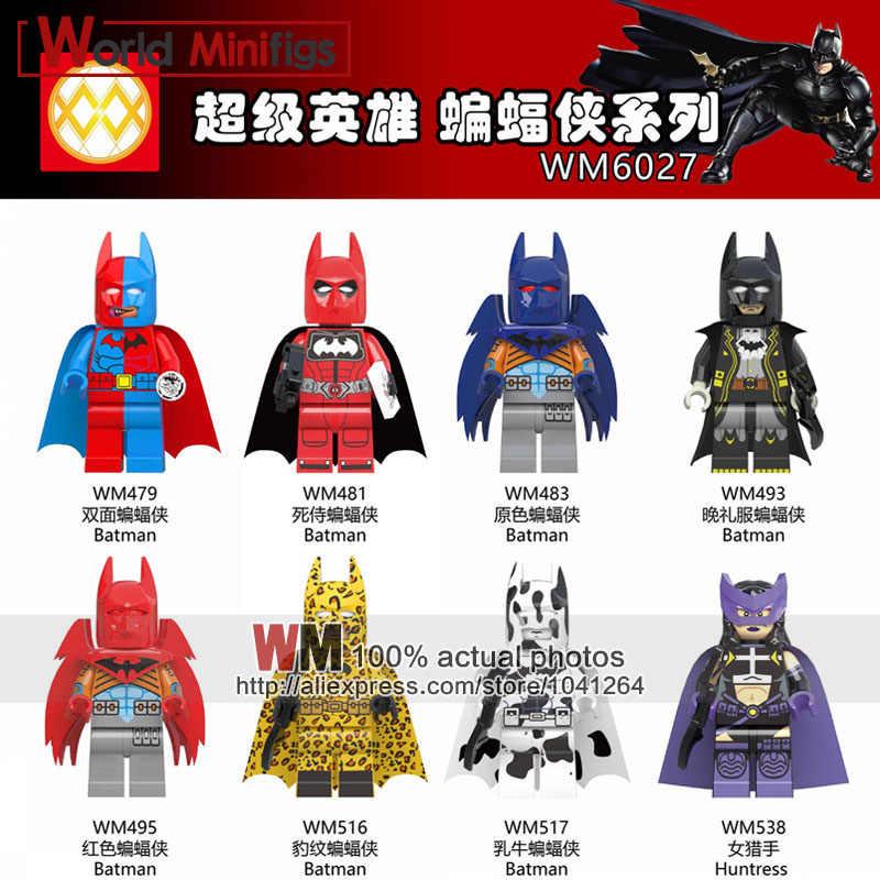 Распродажа, DC супер герой Дэдпул, Бэтмен, смокинг, Бэтмен, корова, Бэтмен, Охотница, Azbat, образование, строительные блоки, коллекция детских игрушек