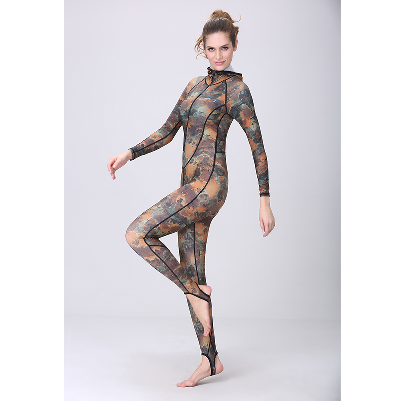 new  UPF 50+ rush guard hood  Camouflage female  jellyfish suit long - Sportswear and Accessories - Photo 3