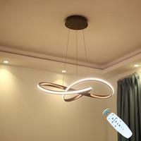 Современные светодиодный подвесной светильник сегмента 2,4 г РФ дистанционного Управление Гостиная Спальня украшения кулон светильник вис