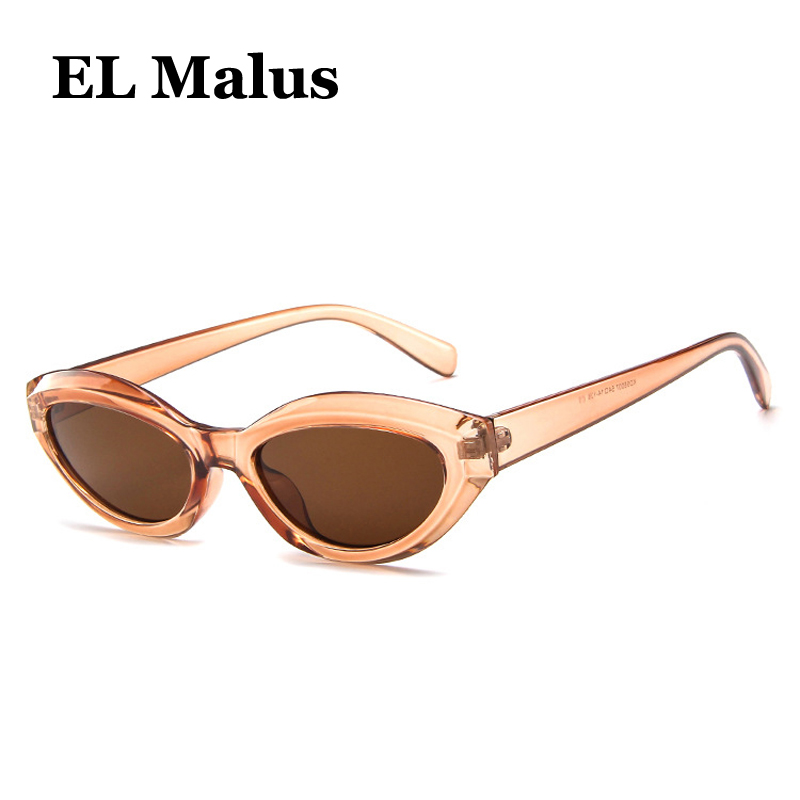 [EL Malus]New Small Oval Frame Sunglasses Women Red Tan Lens Leopard Shades Brand Designer Sexy Ladies Sun Glasses Oculos(China)