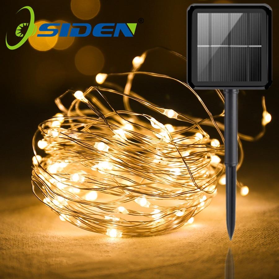 Outdoor Solar Light String Home 7m 12m 22m Garden Copper Wire Light String Fairy Outdoor Solar Powered Christmas Party Decor Lighting Strings Aliexpress