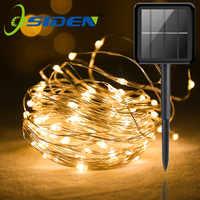 Outdoor Solar Light String Home 7M 12M 22M Garden Copper Wire Light String Fairy Outdoor Solar Powered Christmas Party Decor