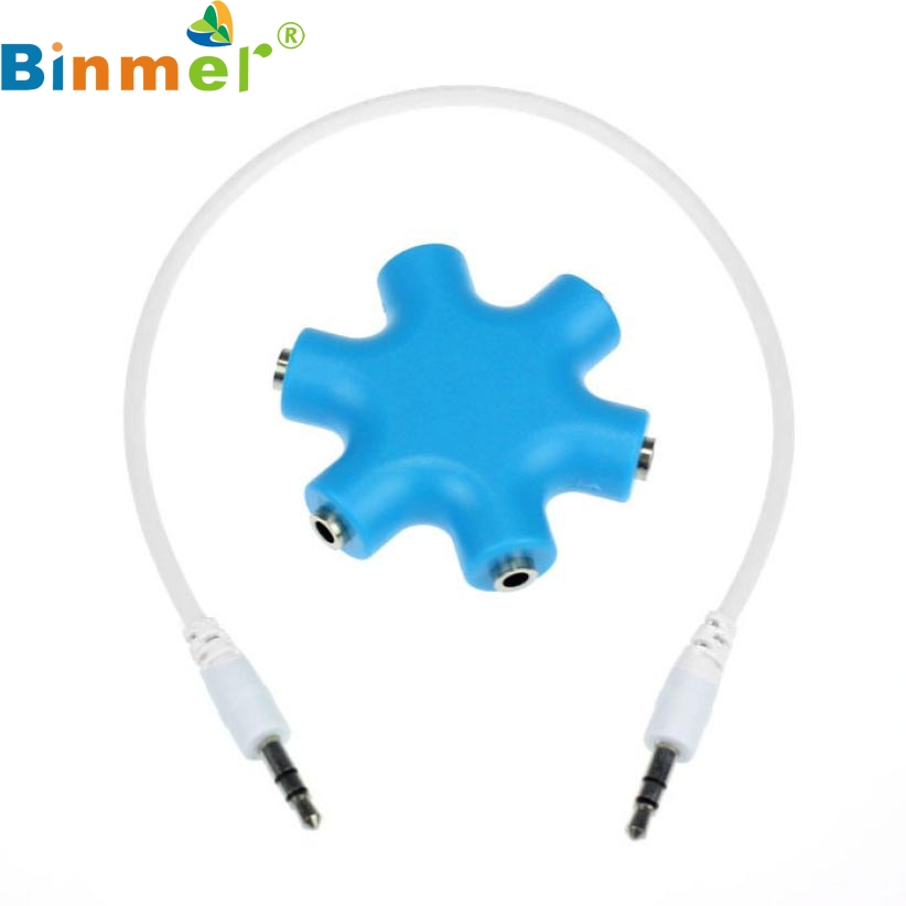 Mosunx  Top Quality New 3.5mm Headphone Earphone Audio Splitter 1 Male to 2 3 4 5 Female Cable JAN 26
