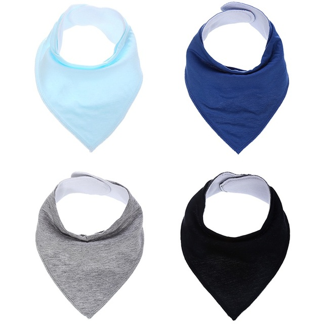 US $4 64 7% OFF|4pcs/lot Solid color Bandana Bibs Draol Bibs For Boy&Girl  Burp Claths Unisx Soliva towel Draoling and Teething Baby Bibs-in Bibs &