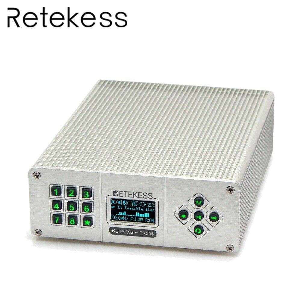 Power Antenne Modestil Retekess Tr505 25 W Pll Fm Sender Antenne Usb Mini Radio Stereo Station Wireless Verlustfreie Musik Broadcast