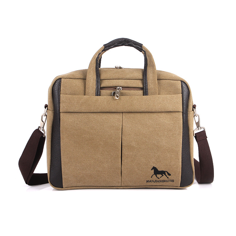 8f741b3fef2b M C Men s Leather Briefcase Brand Messenger Bag Leather Office Bags Leather Shoulder  Bag Men Briefcase SD-175