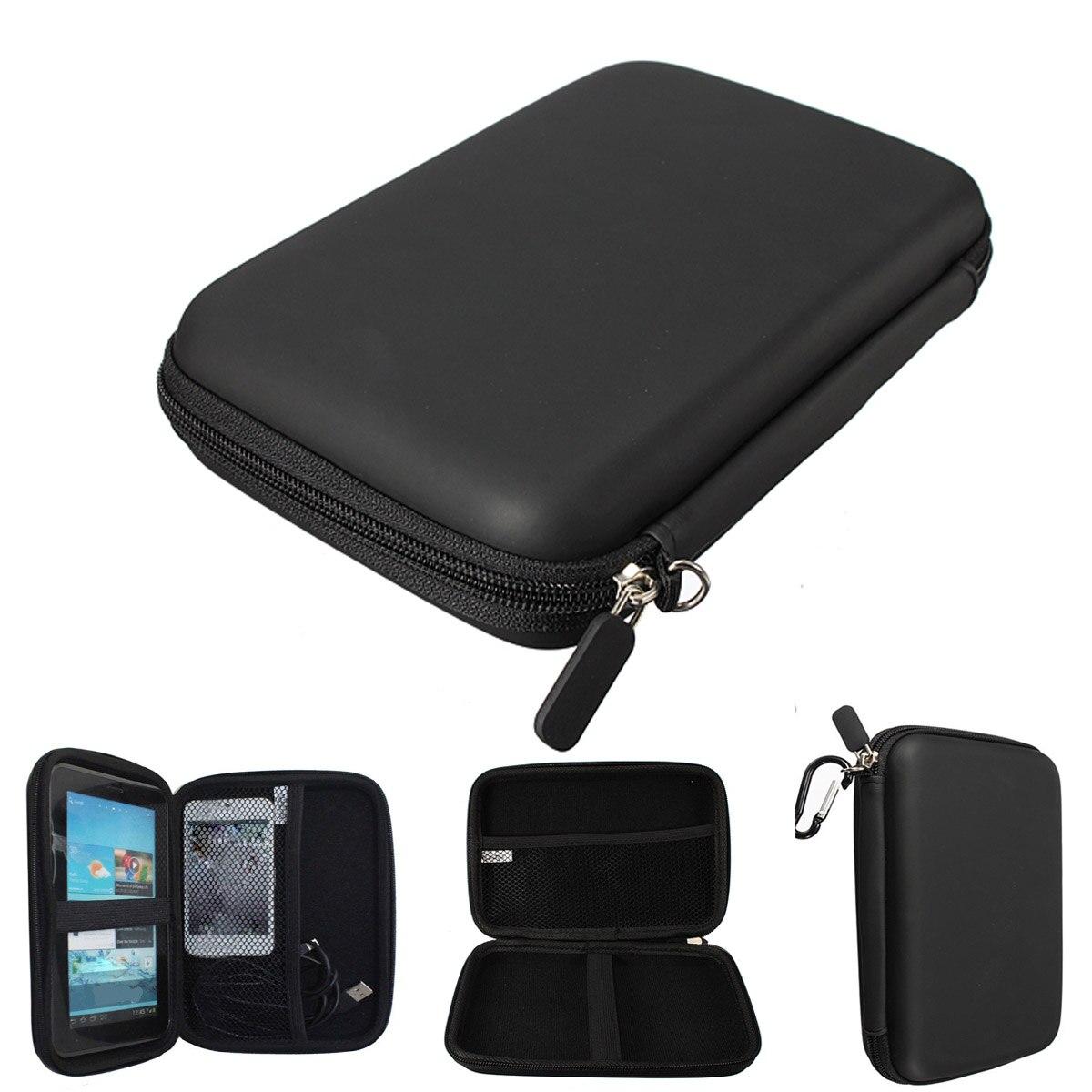 Navegación GPS protección Paquetes Disco Duro HDD Tablets bolsa pu duro Conchas carry case cubierta de la bolsa protector 7 pulgadas