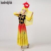 Woman Kaftan Thobe Clothing Islam Apparel Clothing Muslim Dress Islamic Gowns Dance Stage Performance Apparel Clothing