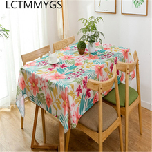 Modern style high - end restaurant tablecloth, family anti - oil waterproof wear-resistant tablecloth