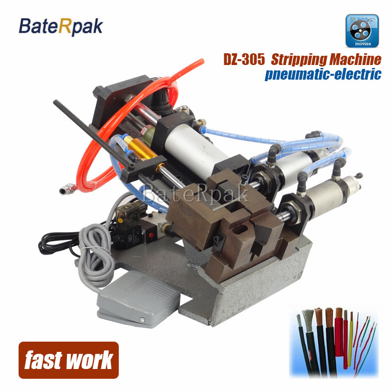 DZ-305 BateRpak Pneumatic cable stripping machine,wire plasitc peel off machine,electric wire stripper,220V,Max.Dia5mm