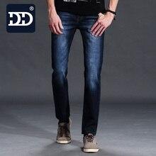 New Arrival Autumn Winter Mens Jeans Dark Blue Black Straight Denim Trousers Pants Stretch Plus Size Customized Type Jeans