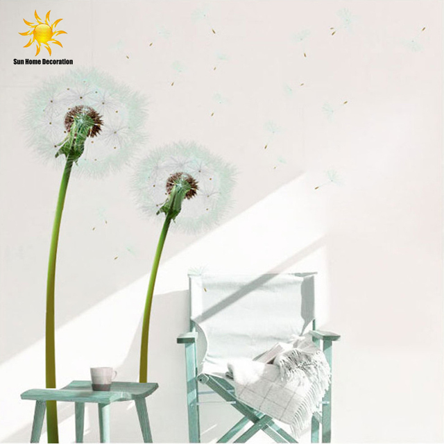 Large Dandelion 3D Wall Stickers Fashion Home Decoration Bedroom Den Sofa  Background Simulation Free Shipping