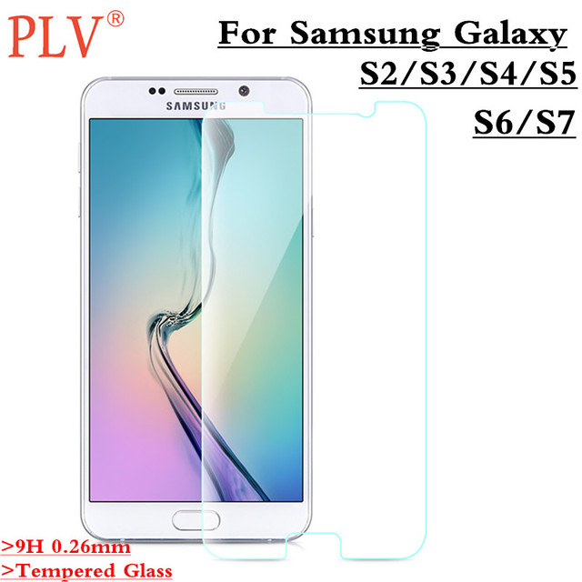 For Samsung Galaxy S2 S3 S4 S5 S6 Tempered Glass Guard Film 9H 0.26mm Ultra  Real Premium Screen Protector For Samsung Galaxy S7