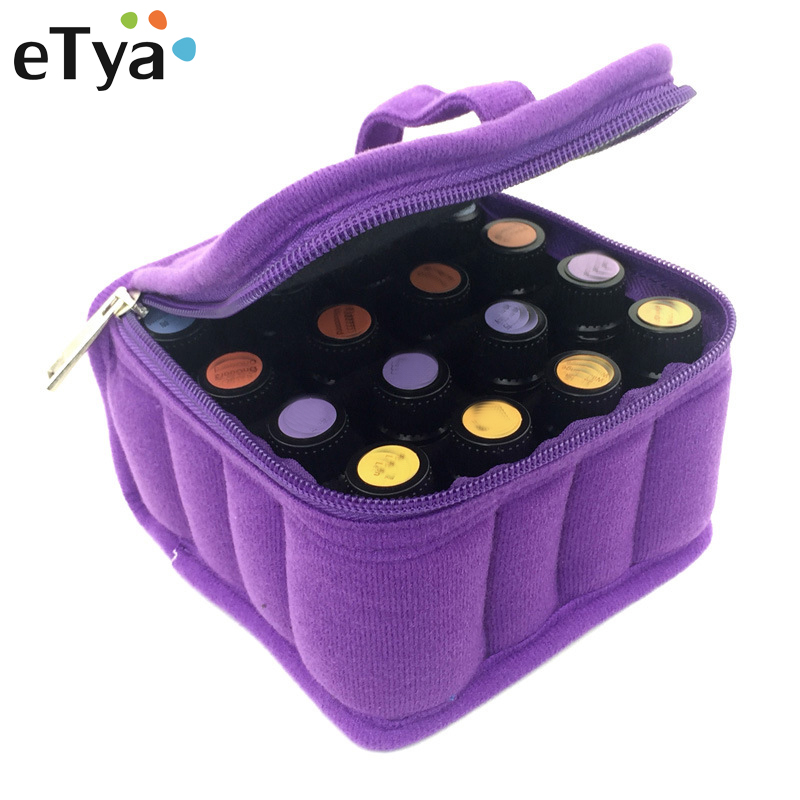 16 Lattices Women Cosmetic Bags 5/10 /15ML Essential Oils Bag Zipper Case Cosmetic Storage Box Make Up Bags Organize Pouch ...