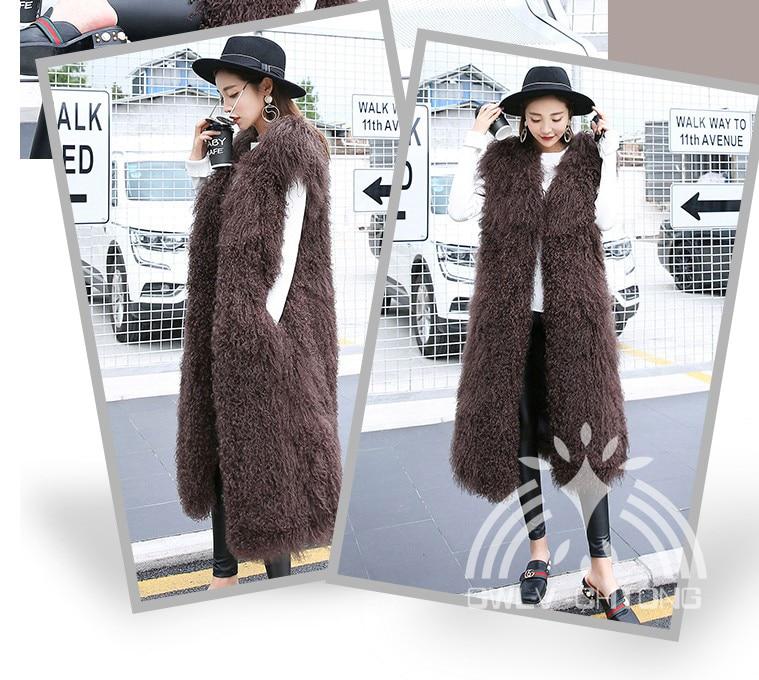 De Véritable X Fourrure Moutons Gris Red kaki Manteau blanc camel Clair Veste long Gilet Femmes Mongolie Naturel noir wine Laine Réel Mode rouge D'agneau bleu pCxw0rECAq