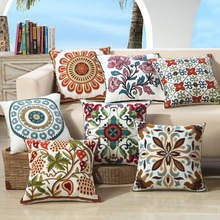 Oriental Charm Extravagant Embroidery Cushion Covers Flowers Totems Pillow Sun Phoenix Elephant Ethnic style Pillowcases