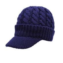 08449ba279908 Winter Men Women s Crochet Brim Hat Warm Faux Velvet Lining Newsboy Cap  Knit Visor Hat Pale Grey Dark Grey White Black Navy Red