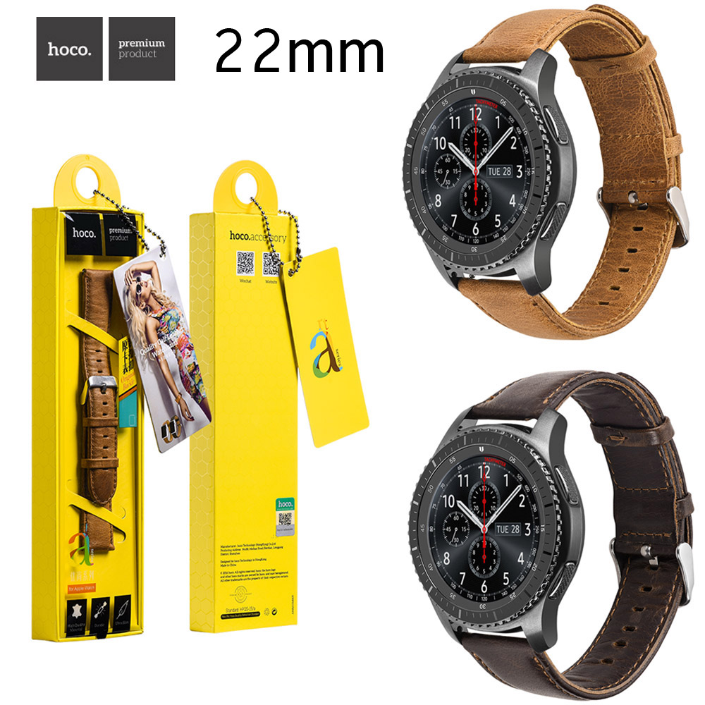 HOCO Cowhide Genuine Leather Strap Band for Samsung Galaxy Gear S3 Classic SM-R770 S3 Frontier SM-R760 SM-R765 Watchbands w Pins смарт часы samsung galaxy gear s3 classic sm r770 1 3 super amoled серебристый sm r770nzsaser