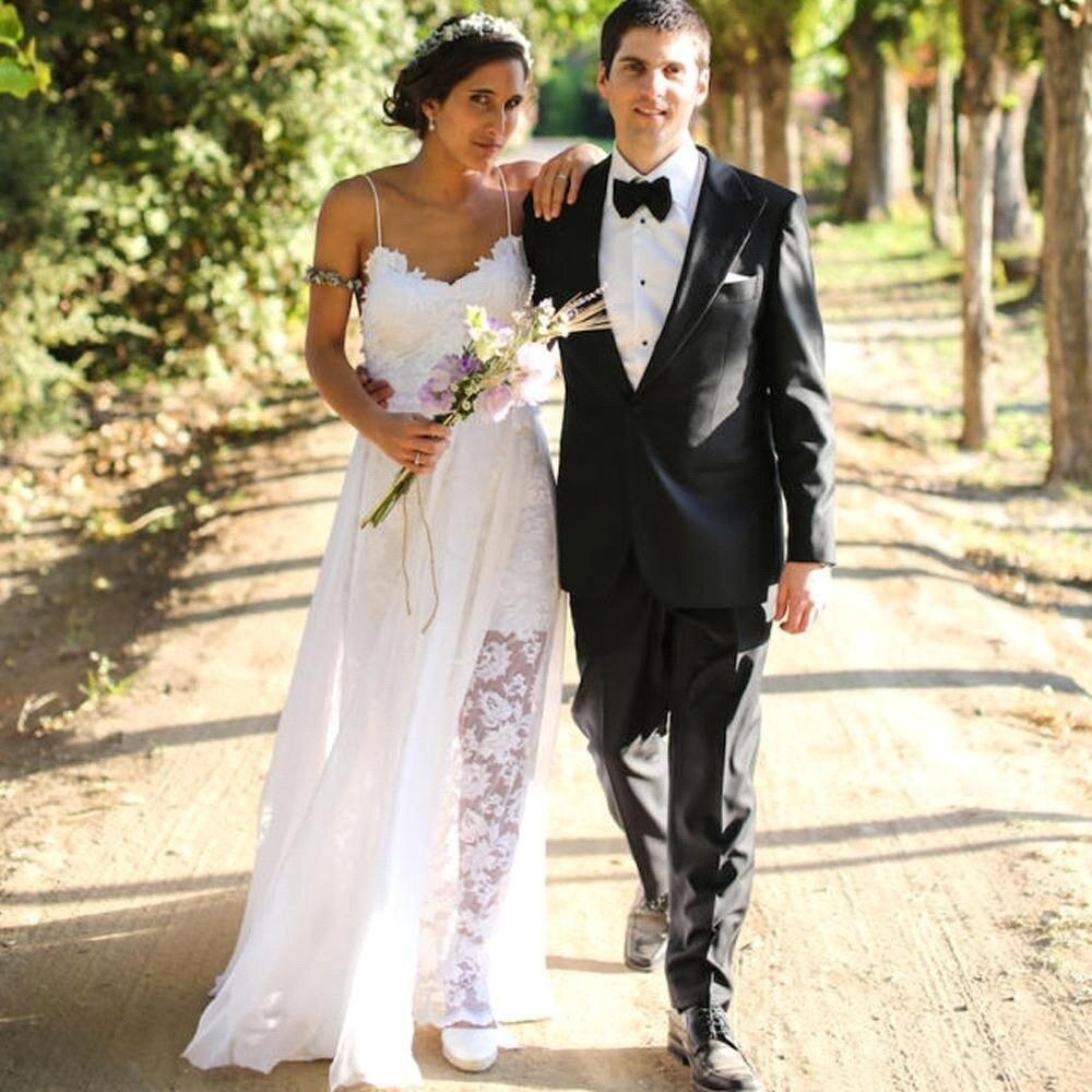 Greek Style Boho Bohemian Wedding Dresses Spaghetti Straps: Aliexpress.com : Buy Beach Wedding Dresses 2017 Sexy