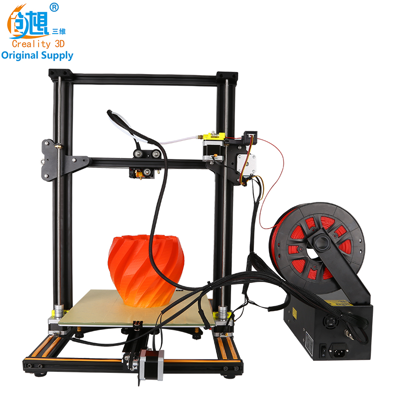 2017 Hot CREALITY 3D CR-10 3D Printer DIY Kit Large Print Size 300*300*400mm Education Person Filaments Aluminum Hotbed LCD Gift 2017 easy build 3d printer cr 10 large print size 500 500 500mm with filaments hotbed sd card tools as a gift creality 3d