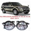 For Mitsubishi PAJERO 4/IV V8_W V9_W    2007-2015  10W Fog Light LED DRL Daytime Running Lights Car Styling lamps